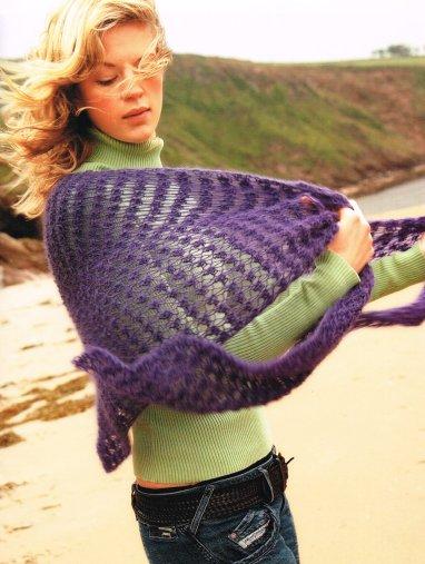 Bramble Stitch Lace Shawl Claire Crompton