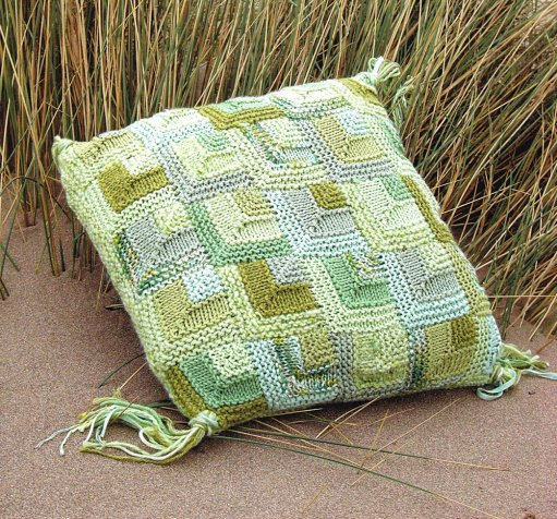 Knitted Mitered Square Cusion Pillow Claire Crompton