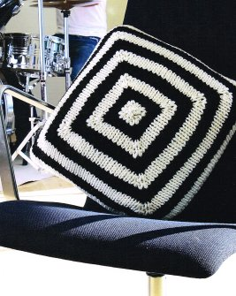 Knitted Modular Cushion Pillow Claire Crompton