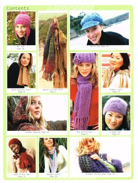 Simply Knits hats and Scarves Claire Crompton