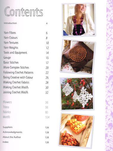 200 Crochet Flowers contents Claire Crompton