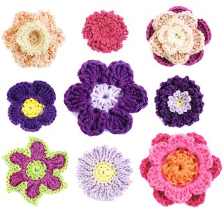 200 Crochet Flowers selection Claire Crompton