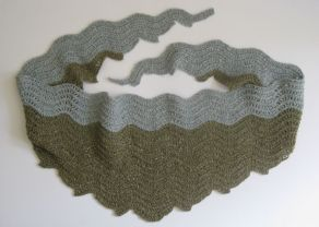 Crochet Old Shale stitch Scarf Claire Crompton