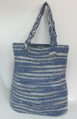 Crochet Sock Yarn bucket bag Claire Crompton