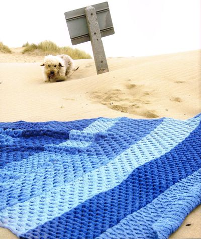 Knitted Throws Afghans denim Claire Crompton
