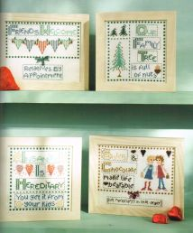 Naughty but Nice cross stitch family Claire Crompton