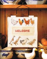 Picture Your Pet cross stitch chickens Claire Crompton