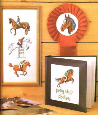 Picture Your Pet cross stitch horses Claire Crompton