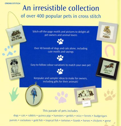 Picture Your Pet in cross stitch contents Claire Crompton